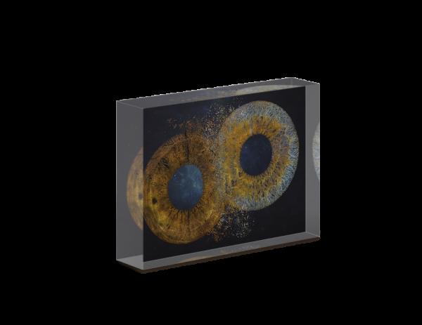 Irisfotografie auf Acrylblock