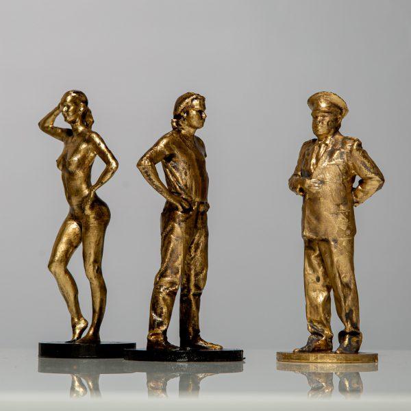 3D Personen Bronze Figur scannen