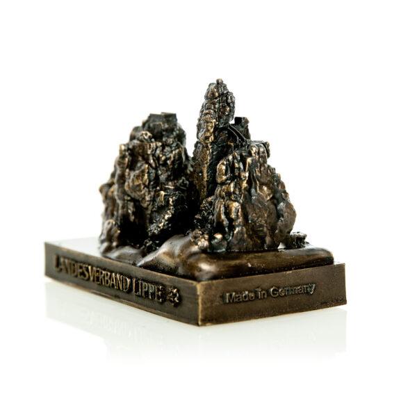 ZKMEDIEN ‣ Externsteine Modell bronziert